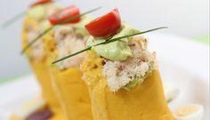Causa de pulpa de cangrejo (El Comercio)