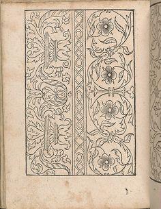 New Modelbüch allen Nägerin u. Sydenstickern (Page 23v).  Hans Hoffmann.  1556.