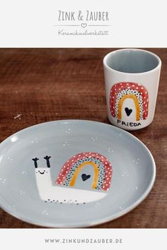 Diy Becher, Pottery Art, Kids Pottery Painting, Diy Mugs, Ceramic Painting, Drawing For Kids, Diy Projects To Try, Food Design, Diy Art