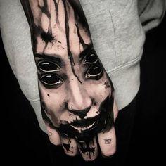 Tattoo by Ben Thomas - Evil eye Tattoo Evil Skull Tattoo, Evil Tattoos, Ghost Tattoo, Creepy Tattoos, Witch Tattoo, Demon Tattoo, Badass Tattoos, Skull Tattoos, Body Art Tattoos