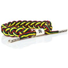Spread good vibes with the adjustable red, yellow and green stripe bracelet from Rastaclat. Part of the Classics collection, this tough shoelace bracelet gives you a custom Rastafarian look you can rock while skating or just plain kickin' it. Collect them