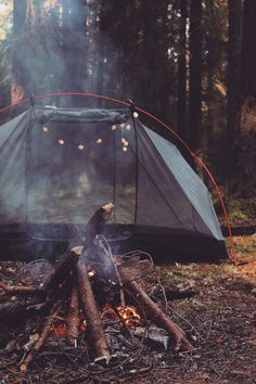 tent + campfire | camping + outdoors #adventure