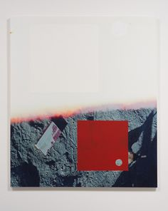 """favorite Kevin Appel """"Salton Sea (half ground)"""", 2012, Acrylic, screen ink, Oil, and UV cured ink on canvas over panel, 77"""" x 66"""""""