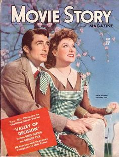 Movie Story - May 15th, 1945. Gregory Peck and Greer Garson in The Valley of Decision.