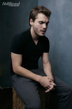 Ten Thousand Saints' Emile Hirsch photographed at The Hollywood Reporter photobooth at the 2015 #Sundance Film Festival in Park City, Utah on Jan. 23, 2015.
