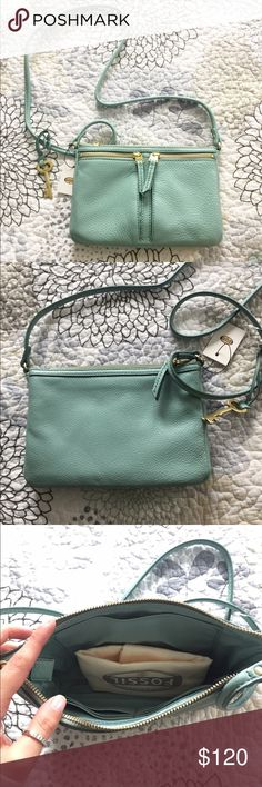 Fossil Cross Body Purse Small Cross body Authentic leather Fossil with dust bag NWT Fossil Bags Shoulder Bags