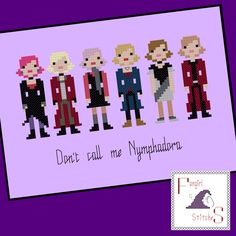 Harry Potter inspired Nymphadora Tonks cross stitch pattern - PDF INSTANT DOWNLOAD by FangirlStitches on Etsy