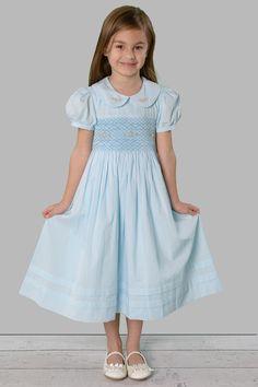 Frozen Little Girls Easter Dress smocked dress blue Frozen dress – Savannah Children
