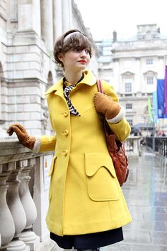 mission-find a yellow coat as cute as this! love it!!!