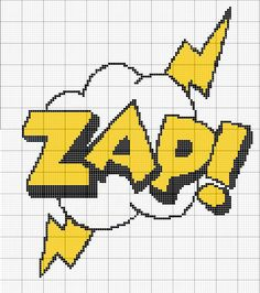 A part of a short series of comic book sound effect cross stitch patterns If you use this pattern please link back to my DeviantART page