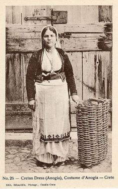 Delcampe - The greatest marketplace for collectors Old Pictures, Old Photos, Vintage Photos, Greek Traditional Dress, Crete Island, Greek History, Old Maps, Ancient Greece, Folk Art