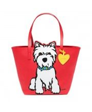Westie Tote with Dangle