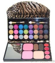 OH MY COSMETICS 33 Color Compact Eye Shadow, Blush, Brow, Lip Gloss Leop... - $12.95