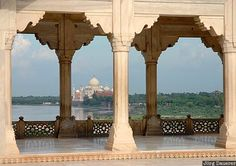 Taj Mahal from the Red Fort, Agra