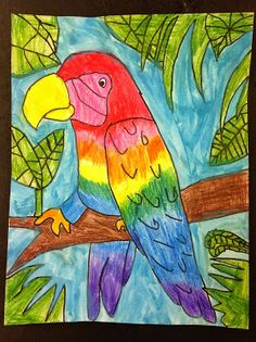 Color It Like you MEAN it!: Art By Me fundraiser 2013! 5th grade parrots