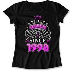 Make any woman feel like a queen on her birthday with this bday t shirt. Our Ladies crewneck tee features a slim feminine fit and is made from cotton.