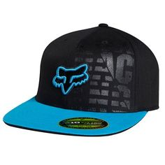 Fox Racing Conclusion 210 Fitted Hat Black Blue. Even though I don't wear hats, I like this one.
