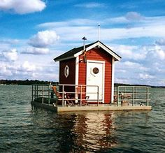 Utter Inn, Västerås, Sweden: A hotel with only one guest room, complete with a bedroom below the water with windows for watching marine life.