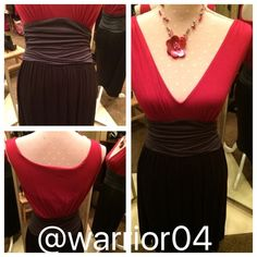 Anthropologie Velvet Red, Black & Gray Dress Anthropologie Velvet Red, Black & Gray Dress Anthropologie Dresses