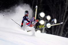 Schladming, Austria — Will Brandenburg of the United States crashes in the downhill event during the men's super combined at the 2013 Ski World Championships in Schladming.  PHOTOGRAPH BY: OLIVIER MORIN / AFP