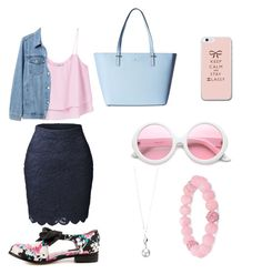 """Day look"" by marinarey11 ❤ liked on Polyvore featuring MANGO, LE3NO, Gap, Iron Fist, Kate Spade, ZeroUV, Elements and Palm Beach Jewelry"