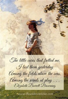 Love Elizabeth Barrett Browning - so much of her work ministers to my soul at http://www.thewritersreverie.com/2014/01/gone-with-the-wind.html