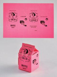 Milk Carton Postcards Really inventive postcard design! Gfx Design, Print Design, Logo Design, Corporate Design, Branding Design, Identity Branding, Corporate Identity, Brochure Design, Visual Identity