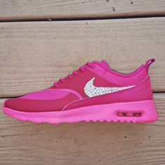 Nike Air Max Thea with Swarovski Crystal Bling by TheFrostShoppe