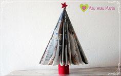 Arvore de Natal feita de papel