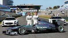 Lewis Hamilton and Nico Rosberg Mercedes Team 2013