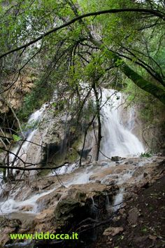 Sardinia waterfall in Nurallao