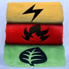 These Energy Card towels are perfect for a Master of the Trading Card Game who knows exactly what type Pokemon is best for building an effective deck or for drying off your behind. Available in in either hand or bath/beach towels. #pokemon