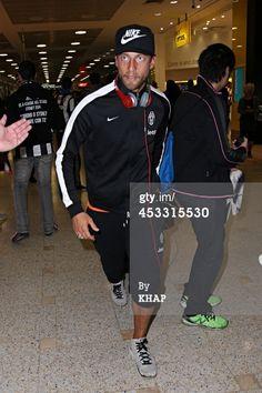 Claudio Marchisio of Italian soccer team Juventus arrives at Sydney...