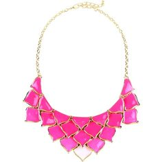 George J. Love Necklace (€21) ❤ liked on Polyvore featuring jewelry, necklaces, accessories, colar, pink, pink necklace and pink jewelry