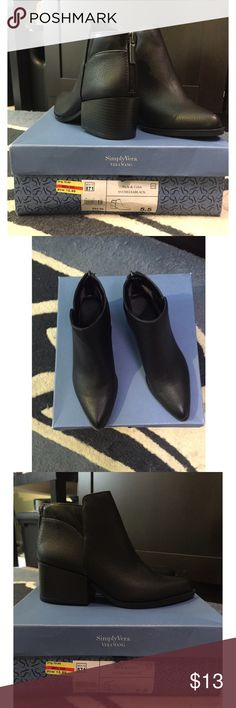 Selling this . NEW Vera Wang booties !! on Poshmark! My username is: gabrielad07. #shopmycloset #poshmark #fashion #shopping #style #forsale #Simply Vera Vera Wang #Shoes