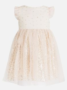POP CANDY Tutu Dress with Flutter Sleeve Mid Pink