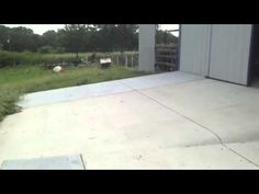 Groundscape Solutions, A Fort Worth Landscaping Company, Pours and Installs a concrete driveway off the back side of a barn. Concrete Driveways, Walkways, Landscaping Company, Sidewalks, Fort Worth, Paths, Barn, Landscape, Outdoor