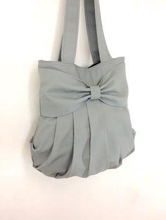 Handbags Bag Canvas Bag Shoulder bag Hobo bag Tote by veradashop Tie Dye Bags, Bow Bag, Creation Couture, Everyday Bag, Cotton Bag, Handmade Bags, Beautiful Bags, Bag Making, Purses And Bags