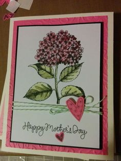 Mothers day best mom ever hydrangea card
