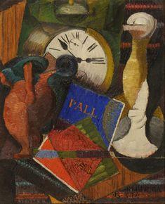 Composición con reloj Autor: Diego Rivera Fecha: 1914 Técnica: Oleo  Objeto: Pintura Estilo Cubismo, Vanguardia  Medidas: 27 x 22 Cm