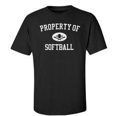 Property of softball | Custom tee shirt for the softball family.