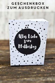 Geschenkboxen zum Ausdrucken für den Muttertag! www.miomodo.de/blog #freebie #printable #diy #muttertag