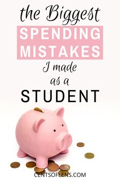 Do you want to learn how you can save more money as a student? Find out what the biggest spending mistakes I made as a student were to prevent yourself from making the same mistakes! College Student Budget, College Dorm Essentials, College Students, College Checklist, College Dorms, College Hacks, Money Tips, Money Saving Tips, Finance Books