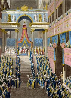 The Coronation of Napoleon on December 2, 1804 Fine Art Print by French Master