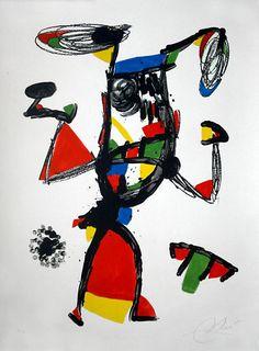 litografia Joan Miro titulada Majorette certificada por el editor