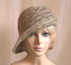 Ava, seagrass side drape millinery hat, womens straw cloche hat by LuminataCo on Etsy https://www.etsy.com/listing/72393603/ava-seagrass-side-drape-millinery-hat