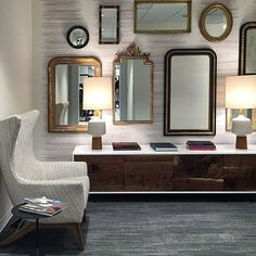 This is such a great mix of pieces! Can anyone guess where this is in Calgary? #interiordesign #calgary #design