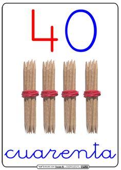 Completamos todas las series de las decenas hasta el 100. Las he puesto en orden ascedente, así que desde el 50 en adelante las tenéis disponibles al final del artículo. Números para decorar la clase mientras aprenden la numeración, ilustrados con palillos formando unidades y decenas, coloreando las unidades de … Montessori Math, Maila, Bilingual Education, Creative, Teacher, Play, Facebook, Google, Decor