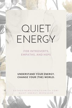Your Quiet Energy is your superpower and it's time to harness it for your benefit! Welcome to the Quiet Energy Workshop, a free one-hour workshop to help you understand your. Highly Sensitive Person, Sensitive People, Ambivert, Introvert Problems, Infj Personality, Nutrition, Social Anxiety, Get To Know Me, Superpower
