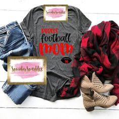 Custom Football Shirts, Personalized Football, Sports Shirts, Custom Shirts, School Spirit Shirts, Game Day Shirts, Women's Football, Shirt Style, Shirt Designs